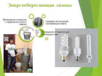 Содержится ли ртуть в энергосберегающих лампах?