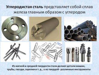 Что такое углеродистая сталь где она используется?
