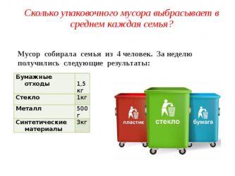 Сколько мусора производит 1 человек в день?