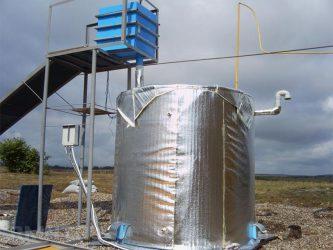 Переработка куриного помета в газ
