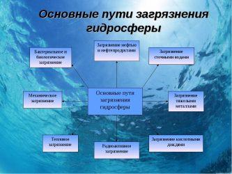 Загрязнение гидросферы источники последствия пути решения